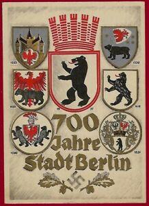 German WW 2 Third Reich postcard  1937 BERLIN  700 years