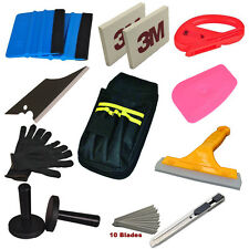 Standard Car Wrap Vinyl Tools Kit Squeegee Bag Razor Wrapping Gloves Magnets