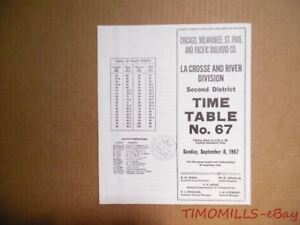 image is loading 1957 milwaukee road railroad employee timetable 67 lacrosse