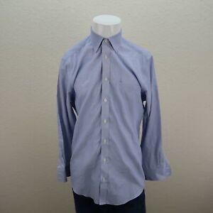 Charles-Tyrwhitt-Blue-Non-Iron-Slim-Fit-Pinstripe-Business-Career-Shirt-Mens-16