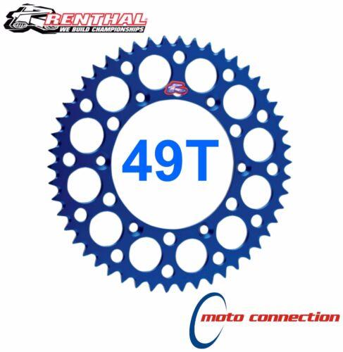 RENTHAL PREMIUM ALLOY BLUE REAR SPROCKET 49T YAMAHA YZF250 YZF450 2013