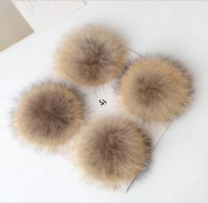 Men's Hats New Hot Unisex Women Men Faux Raccoon Fake Fur Hair Ball Fluffy Pompom Hat Clothing Bag Shoes Cap Accessories Decoration Men's Skullies & Beanies