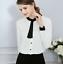 Women-OL-Work-Formal-Shirt-Long-Sleeve-Office-Uniform-Top-Blouses-Polyester thumbnail 1