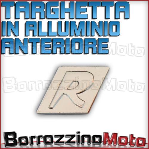 TARGHETTA R PER PIAGGIO VESPA GRAN TURISMO GRANTURISMO IN ALLUMINIO ANTERIORE