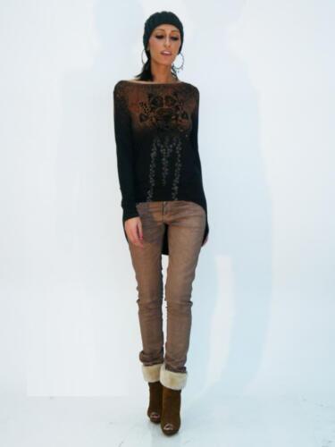 Pantaloni 2012 5330 con Articolo Inverno Rose metallico 2013 Autunno effetto Denny pawHp