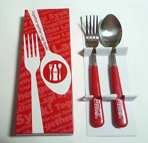 Coca cola coke limited edition spoon and fork set malaysia stainless steel 20 - Coca cola edition limitee ...