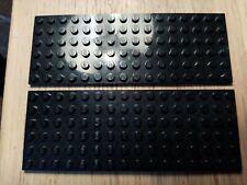 + 4x4 4x6 4x8 4x10 4x12 15X LEGO Large black plates 6x6 6x12 - VGC #W471-80