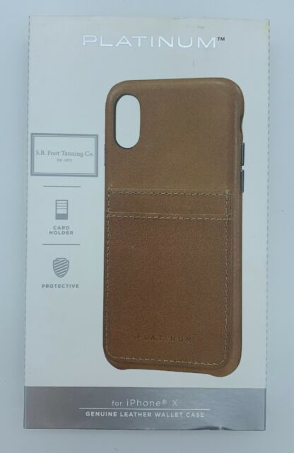 save off a1ac3 c973f Platinum Genuine American Leather Wallet Case for iPhone X - Old Saddle