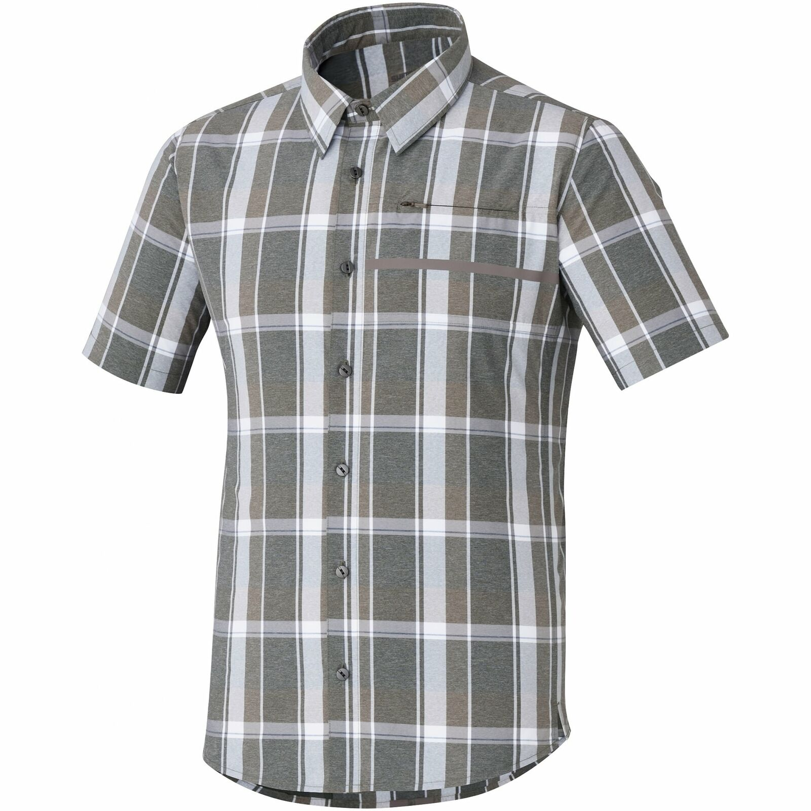 Shimano Uomo controllo Transit Manica Corta Camicia Button Up
