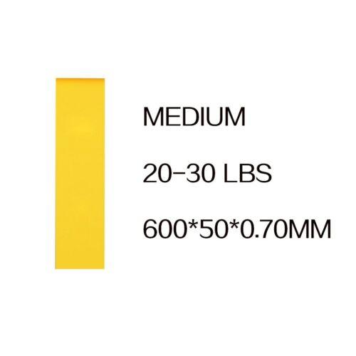 5 Colors Yoga Resistance Rubber Bands Indoor Outdoor Fitness Equipment 0.35mm-1.