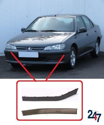 NEW PEUGEOT 406 1995-1999 FRONT BUMPER MOULDING TRIM PLASTIC PAIR RIGHT LEFT