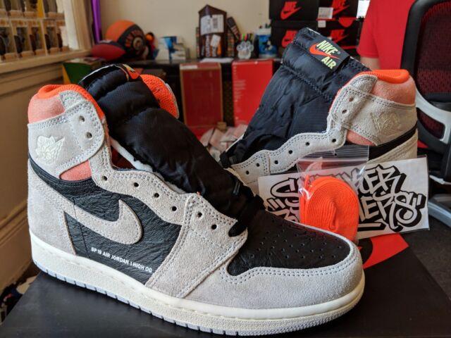 a824a77b549 Nike Air Jordan Retro I 1 High OG Neutral Grey Black Crimson 555088-018