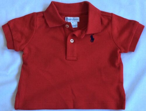 New Baby Boys Ralph Lauren Polo Shirt 3 Months-Red