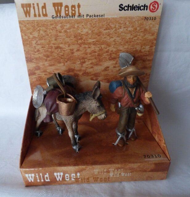 Schleich  70310 Goldsucher mit Packesel / Goldgräber mit Esel -Wild West  OVP