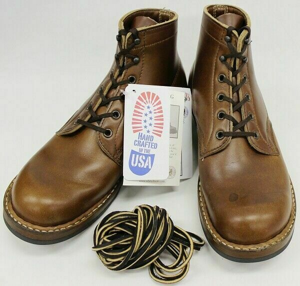 WHITES SEMI DRESS Boots shoes British Tan Men's Size 7.5EE Handmade in USA