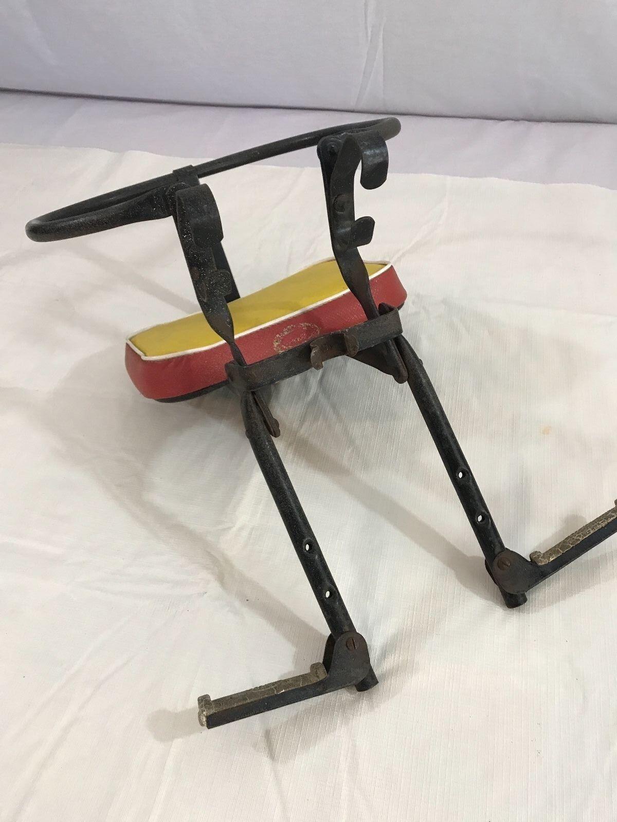 Verdadero niño Bicicleta Vintage 1940-1950 asiento de bebé pieza de historial de montaje del manillar