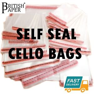 NEW-CLEAR-CELLOPHANE-BAGS-SMALL-LARGE-SELF-SEAL-CELLO-GIFT-SWEET-PARTY-FOR-CARDS