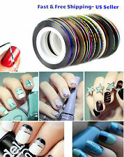 10 Color/Rolls Nail Striping Tape Line Tips Sticker Nail Art Decoration Manicure