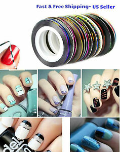 10-Color-Rolls-Nail-Striping-Tape-Line-Tips-Sticker-Nail-Art-Decoration-Manicure