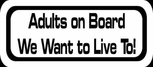 Adults on Board Funny Car Graphics Window Bumper Sticker Decal US Seller