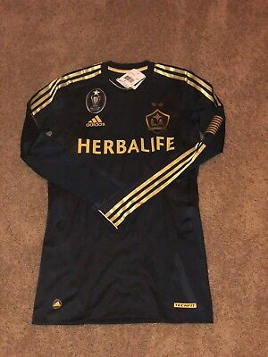 separation shoes 8e99a e6c17 NWT Adidas Los Angeles LA Galaxy 11/12 Third LS Player Issued Jersey Rare  Medium | eBay