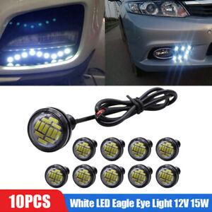 10pcs-White-LED-Eagle-Eye-Light-12V-15W-Daytime-Running-DRL-Backup-Car-Rock-Lamp