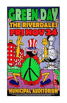 Green Day 1995 Original Silkscreen Concert Poster Uncle Charlie Art S/N