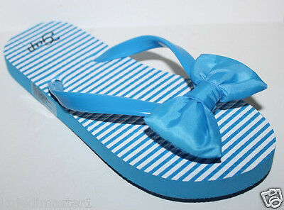 Gap Kids NWT Girl's Blue Swim Jelly Flip Flops Sandals w/ Bow