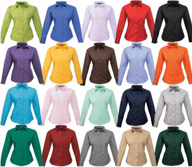 Damen Bluse Hemd Kurzarm Business Freizeit 34 36 38 40 42 44 46 XS-3XL  6 Farben