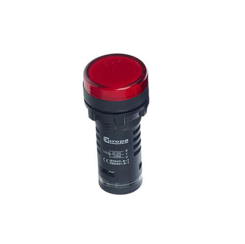 Europa 22mm LED Indicator White Green Red Blue Amber 24V 110V 230V