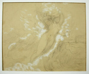 Georges-Bellenger-1847-1918-Drawing-Original-Pencil-Double-Sided-Naked-Naked