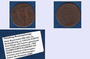 Hans-Krauwinckel-Nuernberg-Rechenpfennig-ca-4-25-g-ca-27-5-mm-B055