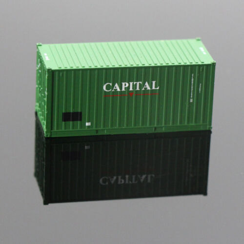 20ft N Scale Container 1:150 Shipping Wagon 20 Foot Freight Car Model Train