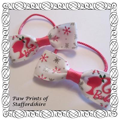 Blue /& Pink Clips Or Bobbles - U Choose Design #5 Disney Princess Hair Bows