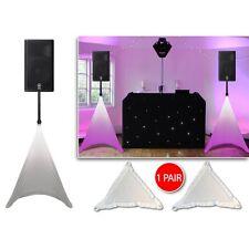 PAIR Gorilla White Tripod DJ PA Speaker Stand Cover Lighting Scrim Lycra Screens