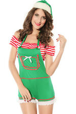 Sexy Women's Green Christmas Forest Elf Santa's Helper Fancy Dress Costume