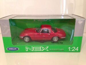 1965-Lotus-Elan-Rot-1-24-Massstab-Welly-24035R-Neu