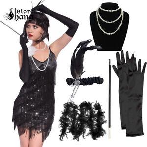 1920-039-S-Ladies-Gatsby-Flapper-Peaky-Blinders-Charleston-Fancy-Accessories-Dress