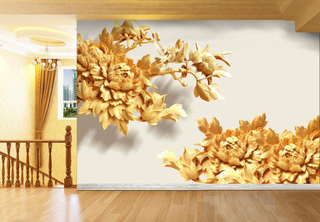 3D Gold Lotus Kunst Muster 8998 Tapete Tapete Tapete Wandgemälde Tapeten Bild Familie DE Kyra   Große Auswahl    Ausreichende Versorgung    Schöne Farbe  088da9