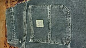Lee-Dungaree-Relaxed-Fit-Stone-Quartz-Prewashed-Carpenter-Jeans-Barely-Worn