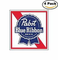Pabst Blue Ribbon Beer Alcohol Decal Diecut Sticker 4 Stickers