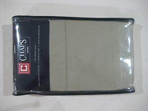 CHAPS HOME 700 THREAD COUNT 100% EGYPTIAN COTTON KING PILLOW CASE SET $74.99