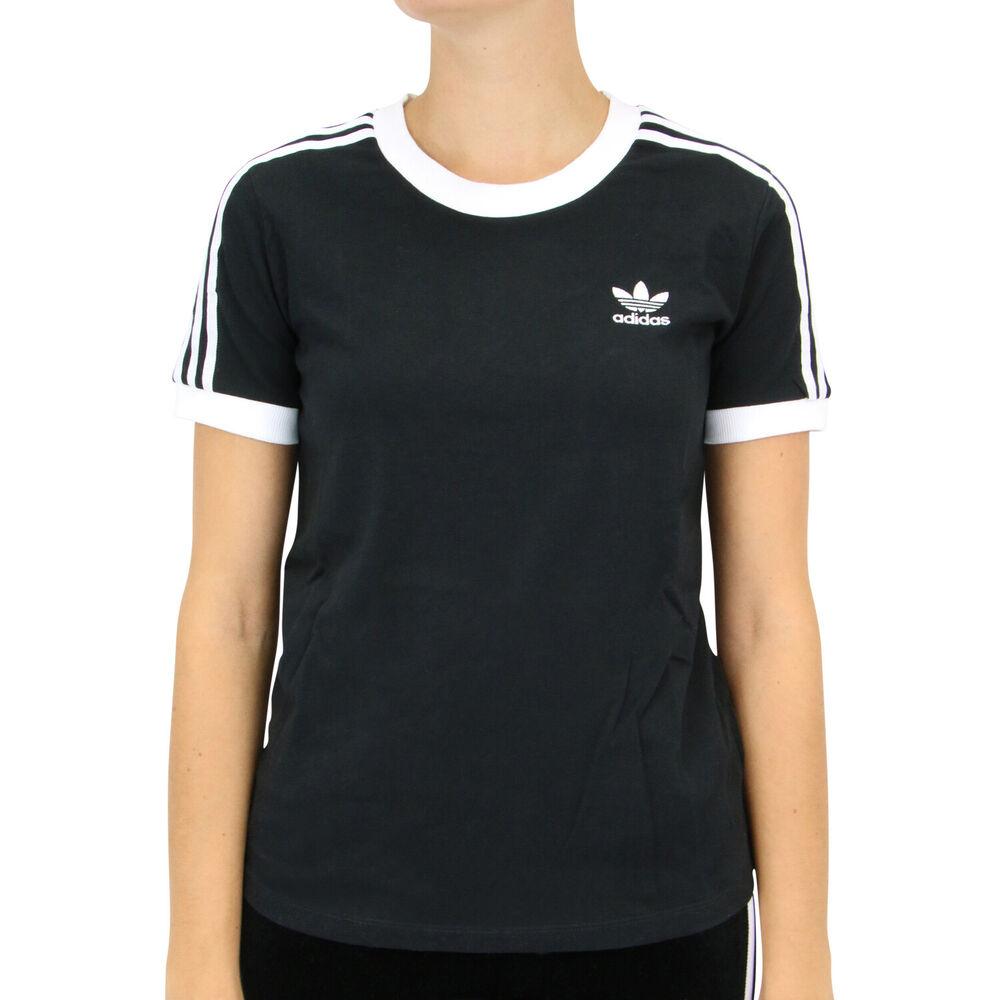Adidas Originals 3-rayures T-shirt Femme Noir Ed7482