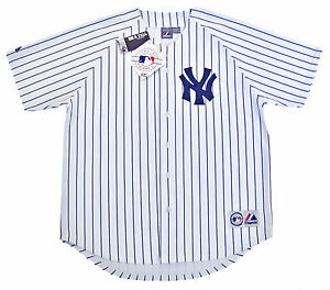 New-York-Yankees-MLB-Majestic-Pinstripe-Big-amp-Tall-Home-Men-039-s-Replica-Jersey