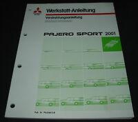 Werkstatthandbuch Elektrik Mitsubishi Pajero Sport V60 ab 2001 Schaltpläne