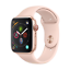 Apple-Watch-Series-4-LTE-44mm-Aluminiumgehaeuse-Gold-mit-Sportarmband-Sandrosa Indexbild 1