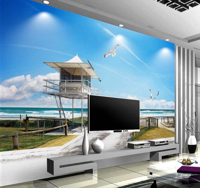 3D Ferienhaus Am Meer Meer Meer 8 Tapete Wandgemälde Tapete Tapeten Bild Familie DE Summer | Produktqualität  | Online Outlet Shop  | In hohem Grade geschätzt und weit vertrautes herein und heraus  d50608