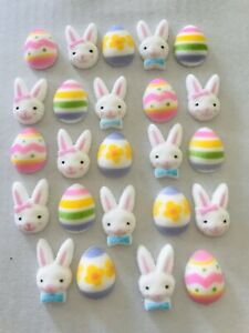 24-Sugar-Icing-Easter-Eggs-amp-Rabbits-Cupcake-Toppers-Decorations-Cakes-Cake