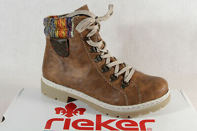 Rieker High top trainers braun Imitation leather textile