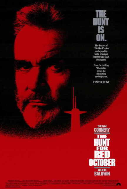 Alec Baldwin Sean Connery A NEW The Hunt for Red October Movie POSTER 11 x 17